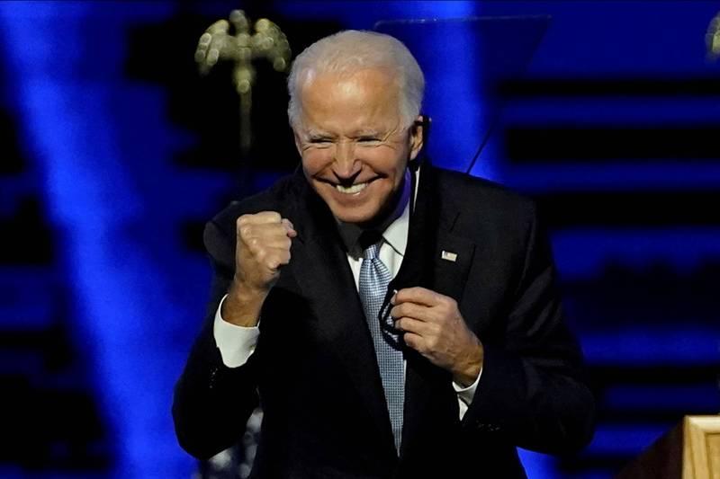 民主黨總統候選人拜登贏得下一任總統大位,多國元首已致賀電表達祝賀。(路透)