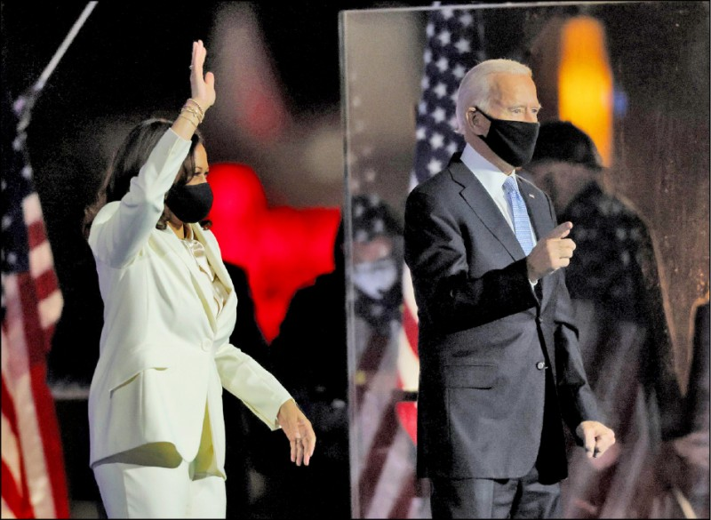 美國民主黨總統候選人拜登勝選。(法新社)