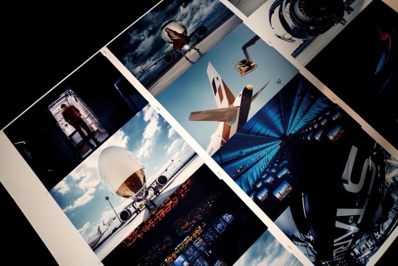 桌曆跳脫常見之航機拍攝視角及手法,以結構性及透視感十足的構圖,展現星宇A321neo不同的角度及姿態。(星宇航空提供)