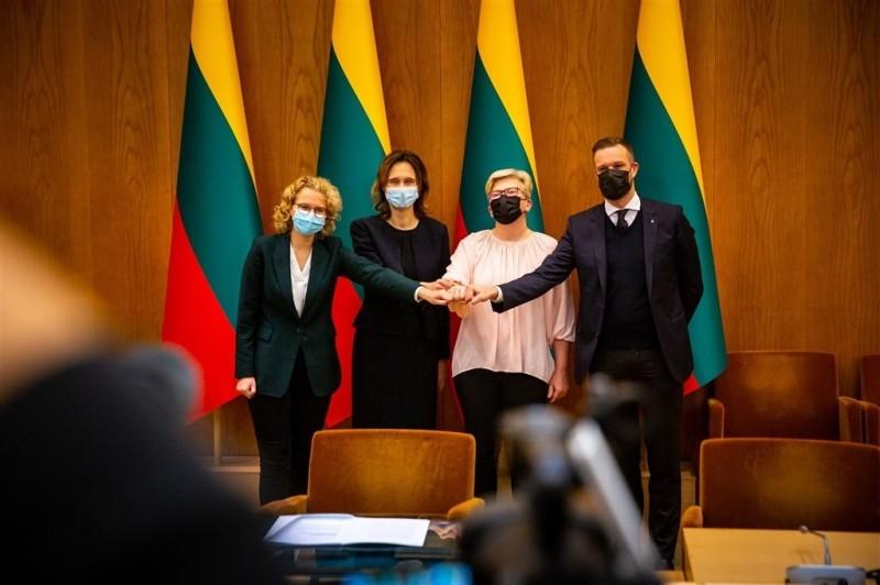 立陶宛新執政聯盟9日商定,即將上任的政府必須支持「為自由而奮鬥」的台灣人民。(圖取自facebook.com/tslkd)