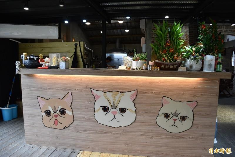桃園大溪超萌的寵物餐廳。(記者李容萍攝)