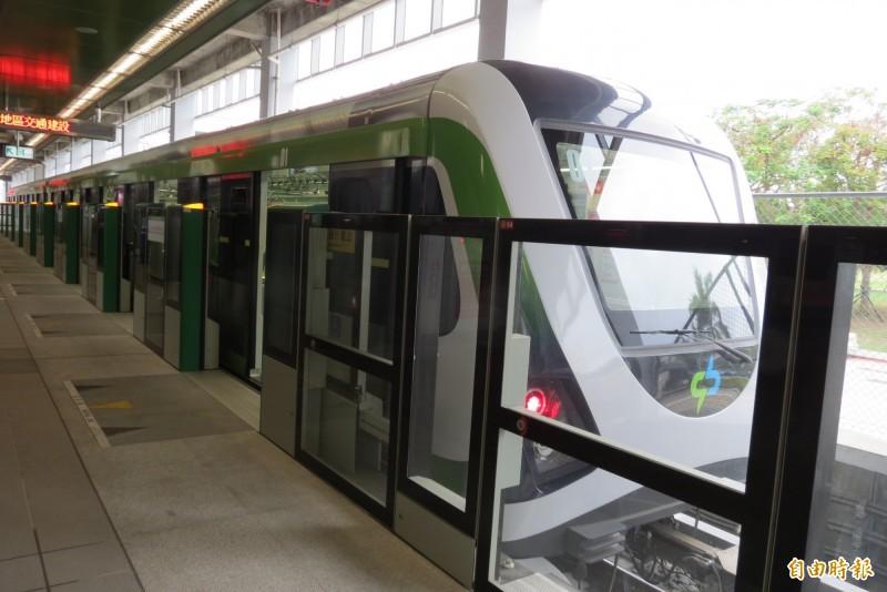 台中捷運公司董事長林志盈坦承,中捷要轉虧為盈,要等藍線運車後才可能做到。(記者蘇金鳳攝)