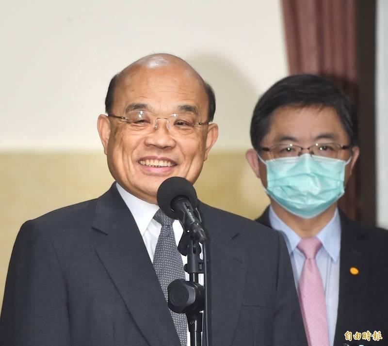 行政院長蘇貞昌今天將到皇家傳承牛肉麵店消費。(記者方賓照攝)