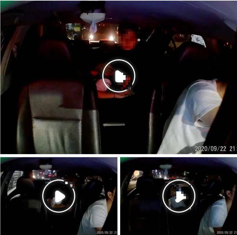 網路上流傳一對男女在Uber車內上演活春宮,不顧場合就直接口愛起來,讓司機崩潰在群組求救,整段過程被PO網後引起網友熱烈討論。(圖擷取自臉書《爆料公社》)