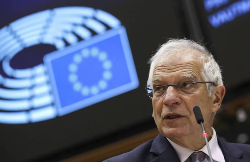 歐盟執委會副主席、外交和安全政策高級代表波瑞爾(見圖)近日發文闡述「歐盟戰略自主權」,強調「不允許中國犧牲歐洲的利益與價值觀,來進行國際擴張」。(彭博)
