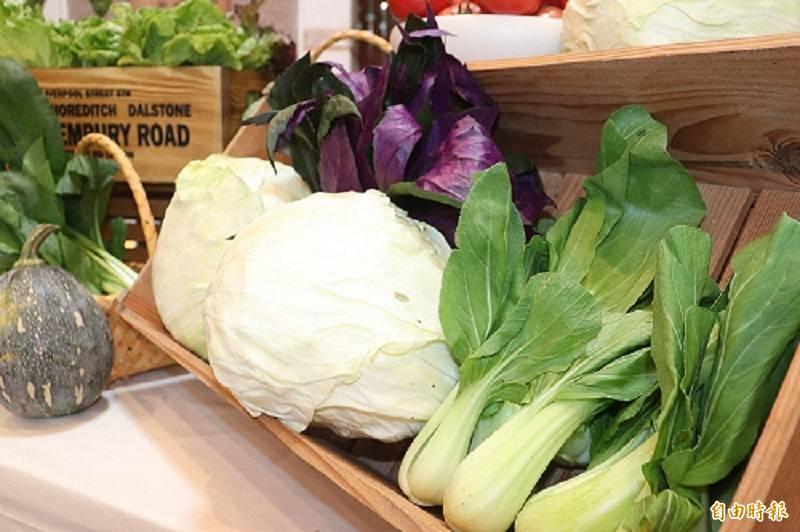 農糧署統計,今年上半年營養午餐生鮮蔬果抽驗出農藥不合格63件,其中台中12件最多,其次為南投10件,蔬菜類別以白蘿蔔不合格為最大宗。蔬果示意圖。(資料照)
