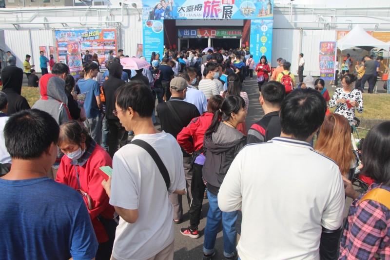 往年台南國際旅展常吸引眾多觀展消費人潮。(圖:南市旅行同業公會提供)