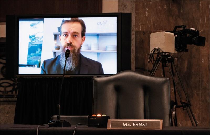 臉書執行長札克伯格與推特執行長杜錫(如圖),十七日以視訊方式出席國會聽證,堅稱在大選期間已竭力阻止不實資訊。(彭博)