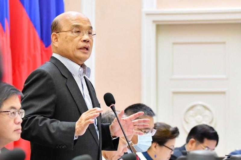 行政院長蘇貞昌表示,行政院每4年將提出一次「國家自願檢視報告」。(行政院提供)