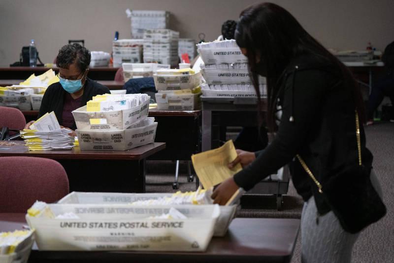 喬治亞州從13日手動重新計票後,發現有4個郡計票錯誤。(彭博資料照)