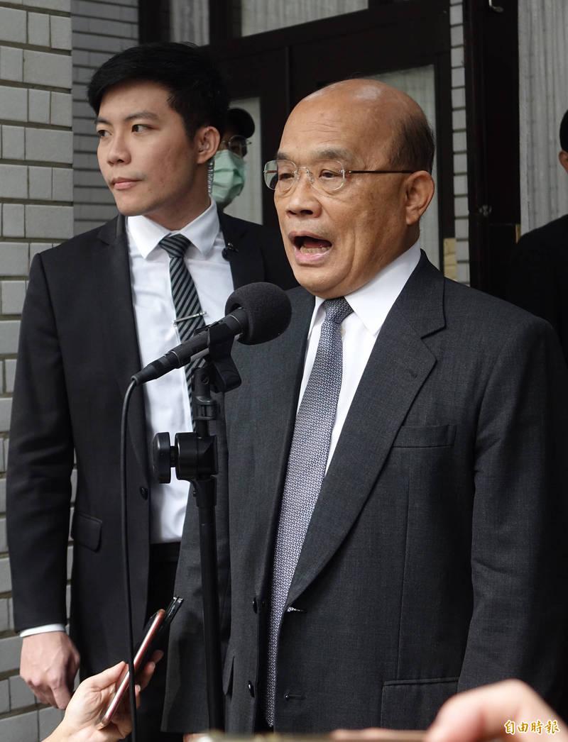 行政院長蘇貞昌。(資料照)