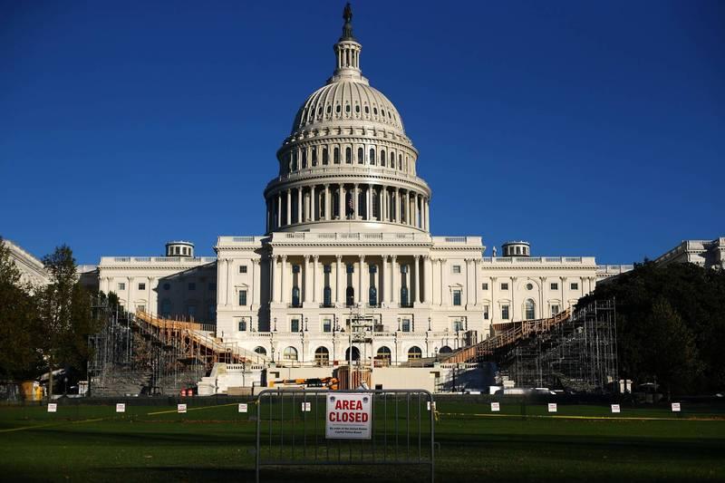 美國民主黨2名資深州參議員週三突然宣布退黨。圖為美國國會大廈。(路透檔案照)