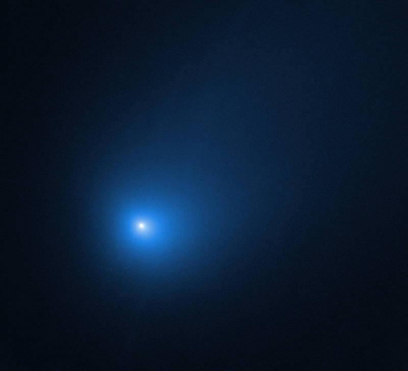 NASA網站指出,1顆價值174億元的小行星正在接近地球。圖為鮑里索夫彗星。(歐新社檔案照)