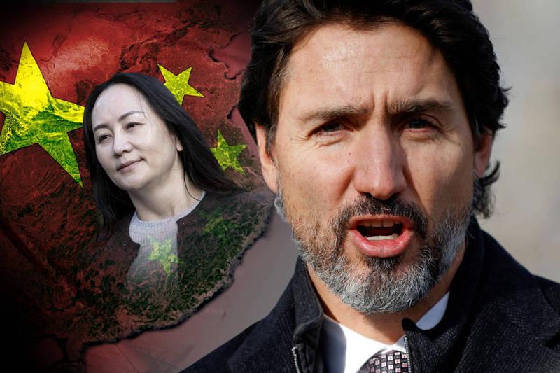 加拿大總理杜魯道(右)強調自己不後悔加國逮捕孟晚舟(左)。(本報合成)