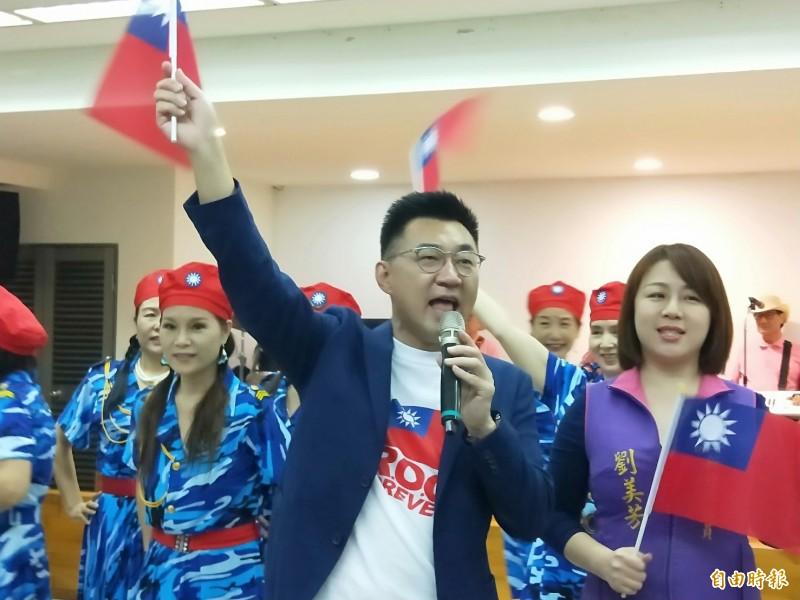 國民黨主席江啟臣說,他就任黨主席以後,年輕黨員比例增加。(記者何玉華攝)