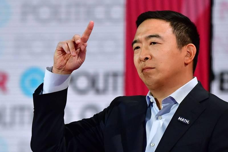 CNN預測,美籍台裔企業家楊安澤可能出任商務部長。(法新社)