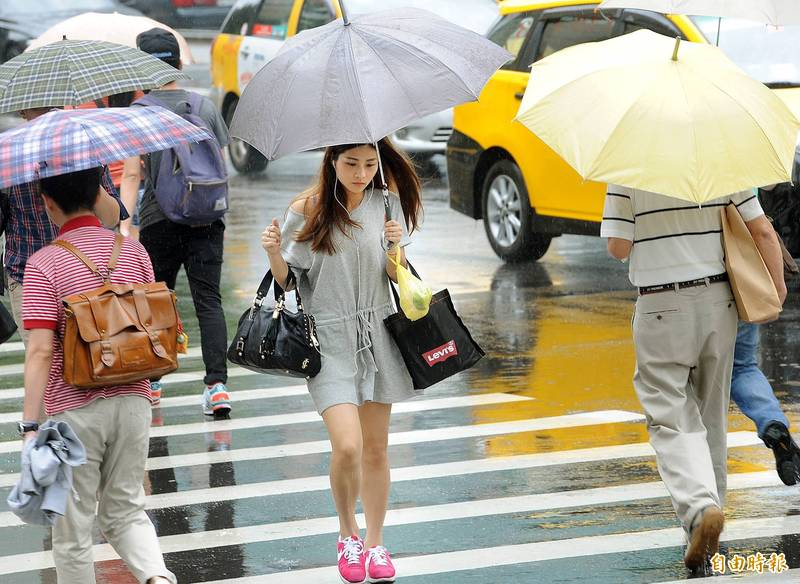今日北、東部轉陰有雨天氣。(資料照)