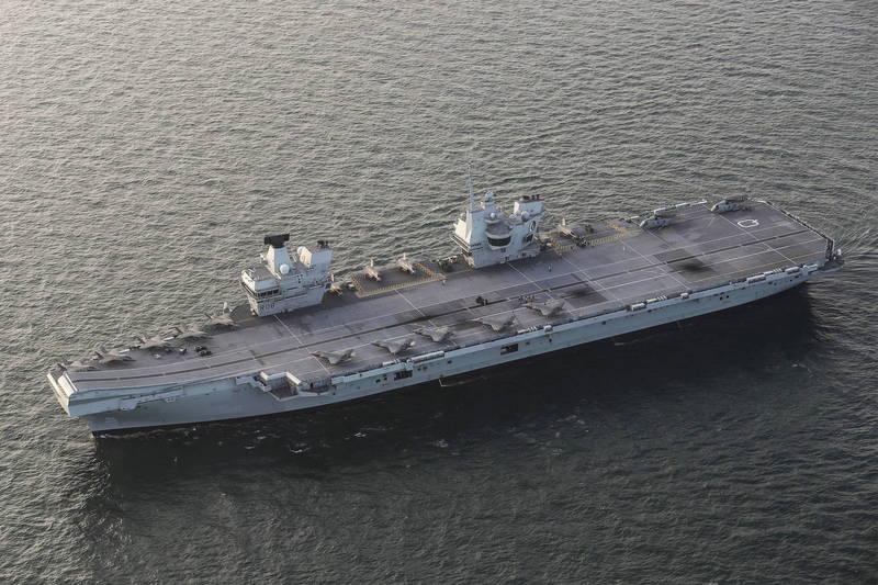 英國政府宣佈,明年將派遣一艘航空母艦赴亞洲。圖為伊莉莎白女王號。(歐新社)