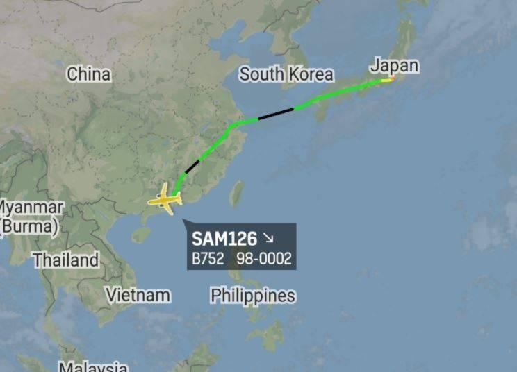 白宮國家安全顧問歐布萊恩近日造訪越南,其搭乘之美國空軍C-32A專機被軍事觀察相關自媒體再度捕捉到「飛越中國領土」。(翻攝自「Callsign:CANUK78」推特)