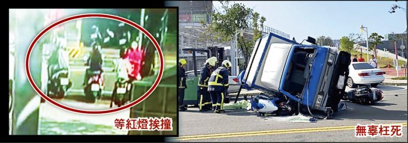 慣竊張嘉瑋本月18日偷貨車後遇警攔查、拒檢逃逸,連撞4輛機車後側翻,壓死25歲廖姓女子。(資料照)