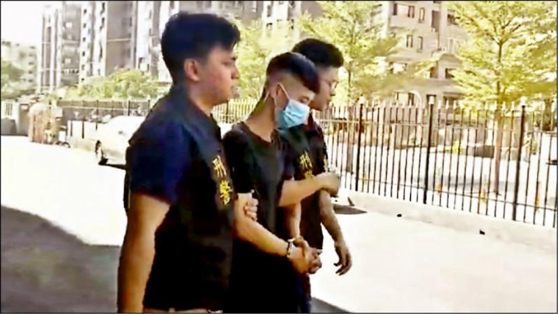 竊盜通緝犯胡典堯遇圍捕,把實習警員撞成重傷脫逃,一週後落網被收押。(資料照)