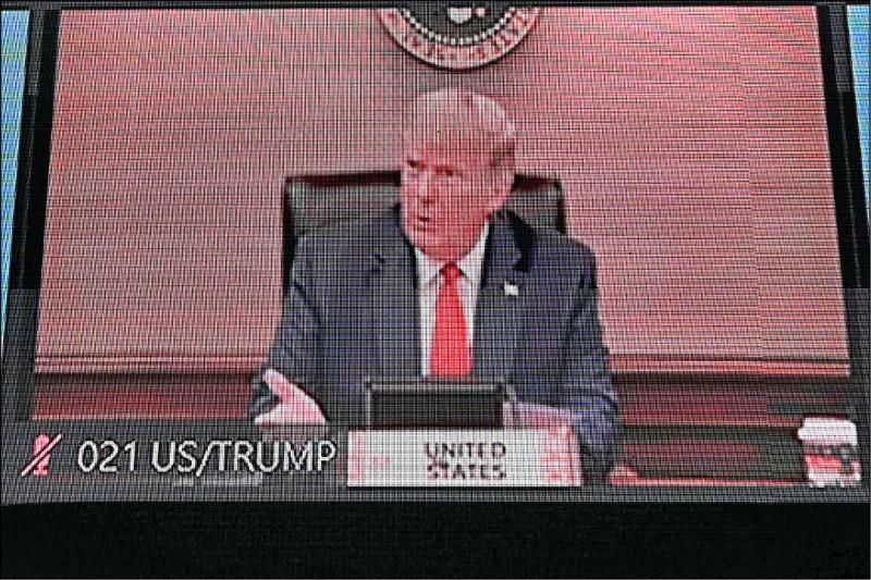 美國總統川普廿日參加亞太經濟合作會議視訊會議,並發表演說。根據白宮聲明,川普在會中重申,美國將透過強健的經濟成長來促進印度—太平洋地區的和平及繁榮。(法新社)