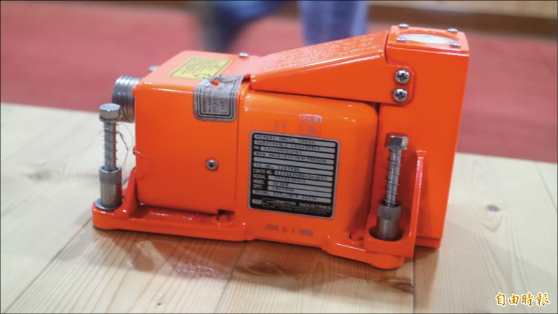 空軍搜救應變中心目前已確切偵獲飛機失事殘存紀錄器CSFDR(黑盒子)信號,圖為黑盒子示意圖。(記者王錦義攝)