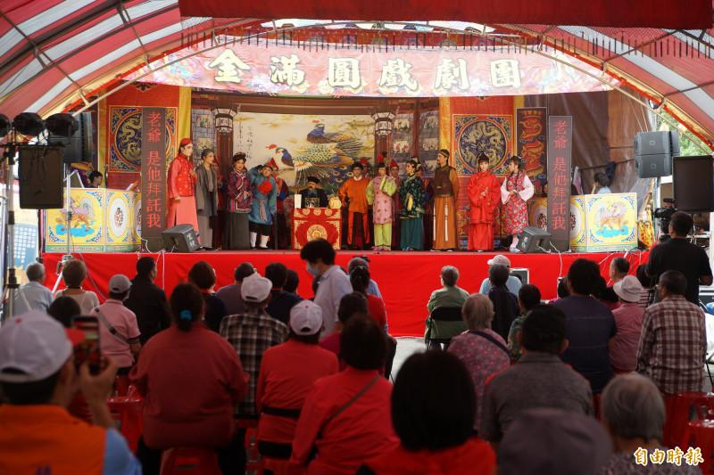 「2020桃園三界爺文化祭」系列活動22日於楊梅啟明宮辦理祈福感恩餐會。(記者李容萍攝)