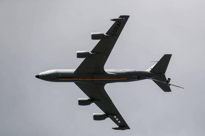 圖為美軍KC-135空中加油機。(法新社檔案照)
