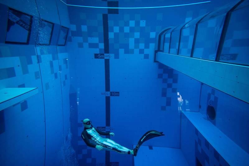 波蘭世界最深潛水池開幕 水深45.5公尺藏巧思