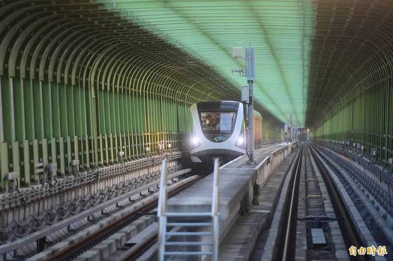 中捷綠線因故障今天暫停試營運,中捷公司早上說明,提醒民眾不要前往搭乘。(資料照)