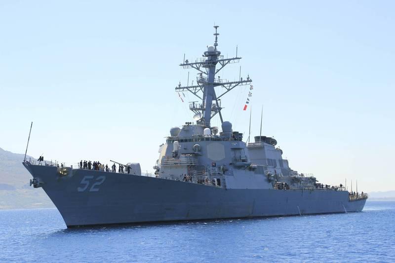 美軍貝瑞號(見圖)昨通過台海,指揮官今發表聲明。(法新社檔案照)