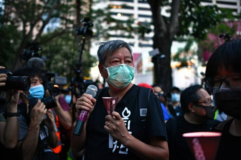 「香港市民支援愛國民主運動聯合會(支聯會)」主席李卓人(見圖)今天強調,支聯會明年將繼續舉辦持續30年的「六四」紀念活動,並已預訂維園場地。(法新社檔案照)