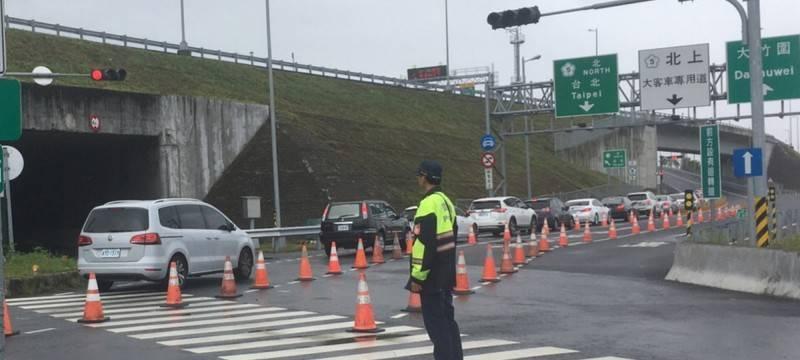 圖為國道「高乘載管制」示意圖。(記者江志雄翻攝)