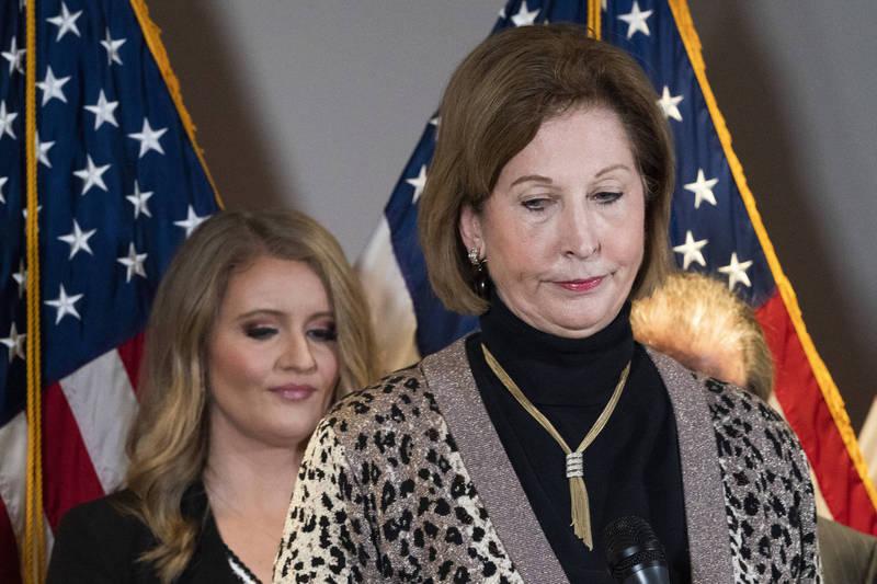 鮑爾被媒體稱為是川普團隊律師,不過川普團隊出面切割,稱鮑爾她不是川普法律團隊的成員。(美聯社)