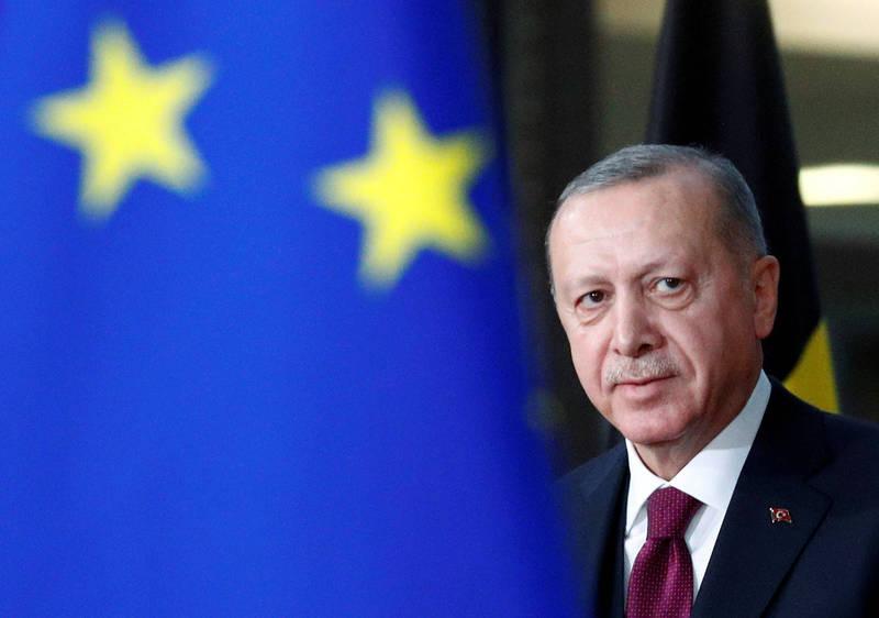 土耳其總統艾多根22日表示,土耳其自視為「歐洲不可分割的一部分」,同時強調不會屈服於攻擊和雙重標準。(路透資料照)