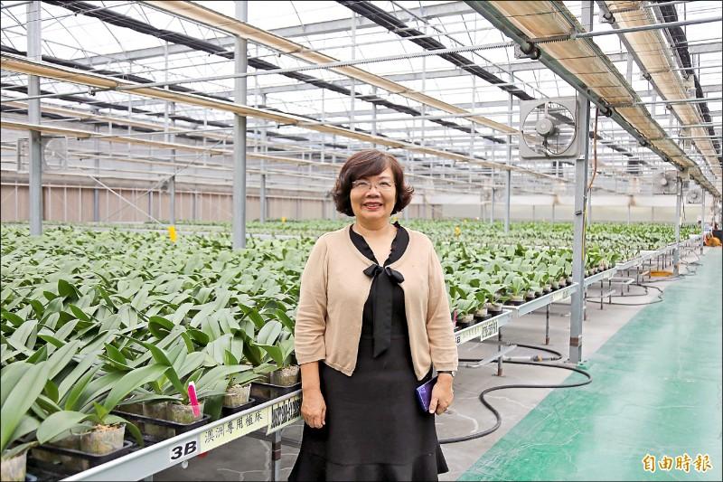 蜀隆花卉公司董事長李嘉珍認為,提前數位轉型與升級,才能把傳產變聰明。(記者邱芷柔攝)