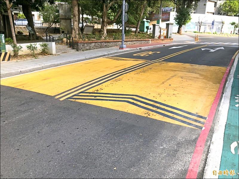 平鎮文化街90巷 爭取繪製「減速平台」