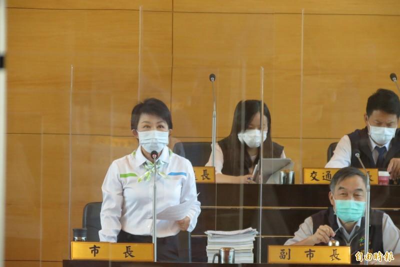 台中市長盧秀燕表示,拜登要上任,政府應重啟萊豬談判(記者蘇金鳳攝)