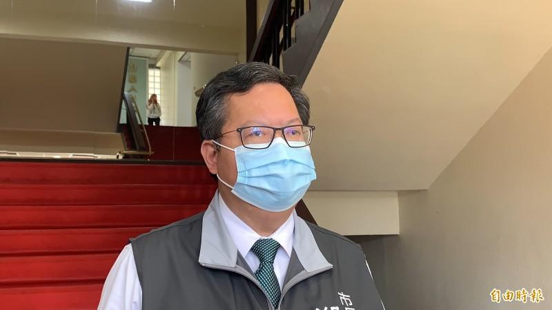 桃園市長鄭文燦表示,民調只是提供執政者參考,重要的是執政績效。(記者陳恩惠攝)