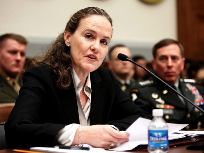 佛洛諾伊(見圖)被視為「自由派中的鷹派」,曾主張美國應增加軍費維持強盛軍力;她曾在2015年率團訪問台灣。(美聯社檔案照)