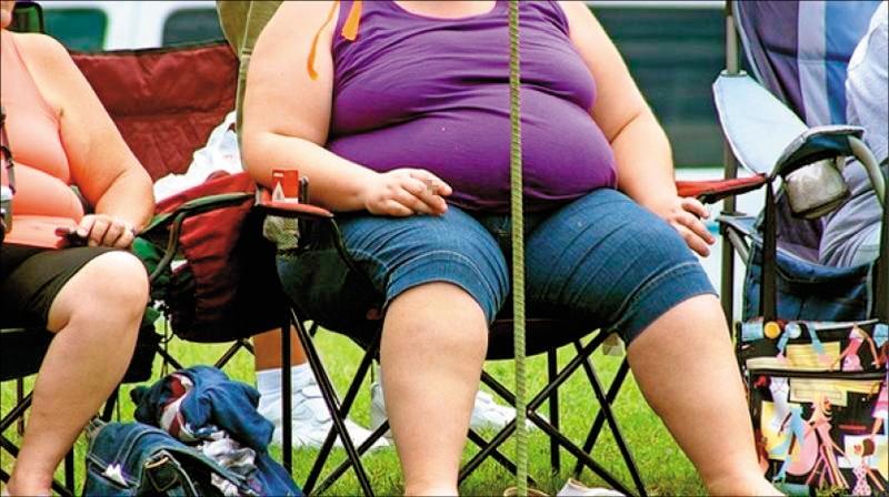 最新研究指出,體型肥胖、特別是囤積腹部脂肪的人,腦容量較小,未來罹患失智的機率更大。(法新社資料照)