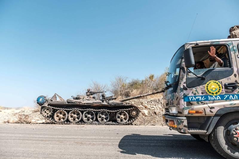 泰格瑞省叛軍領袖23日表示,將「誓死捍衛家園」。聯合國也對當地平民安全表關注,安理會預計將針對衣索比亞動亂召開會議。(法新社)