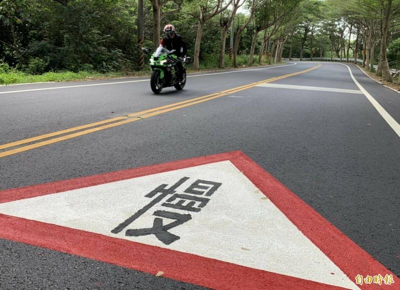 139線19~22K路段降速至40公里實施滿月,警方取締超速違規件數比速限調降前,不減反增。(記者湯世名攝)
