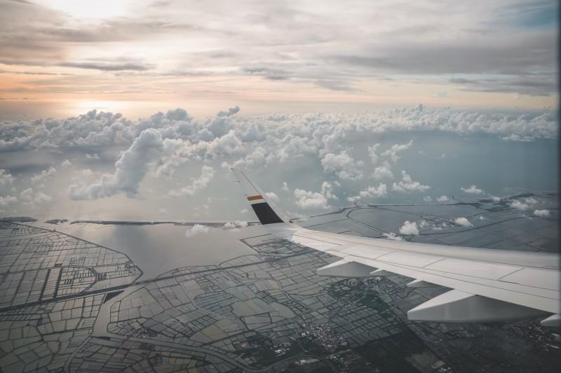 星宇航空七夕微旅行航班飛經台南上空,看到美麗的景致。(圖由星宇航空提供)