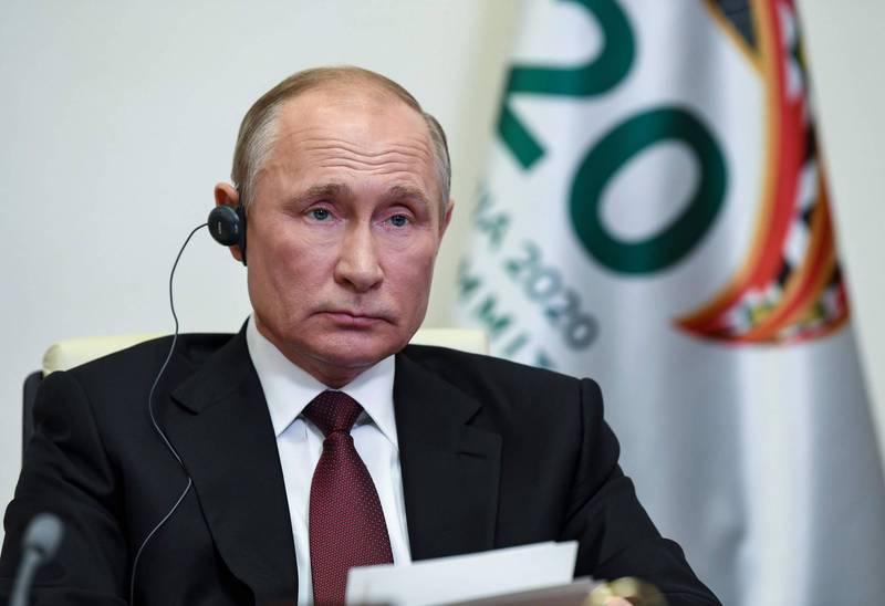克林姆林宮證實,俄羅斯總統普廷尚未接種「史普尼克V」武漢肺炎疫苗。(法新社)