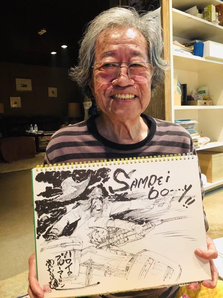 代表作為經典漫畫《天才小釣手》的日本漫畫家、筆名為矢口高雄的高橋高雄,其家屬在今天(11月25日)發布他離世的訃聞,享壽81歲。(圖擷取自矢口高雄twitter)