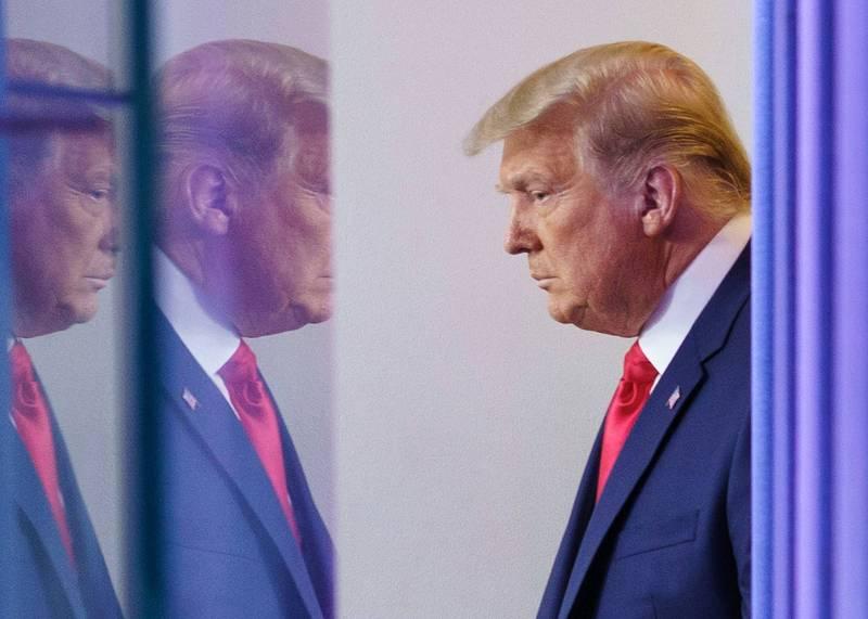川普仍未放棄法律戰,持續挑戰選舉結果。(法新社)