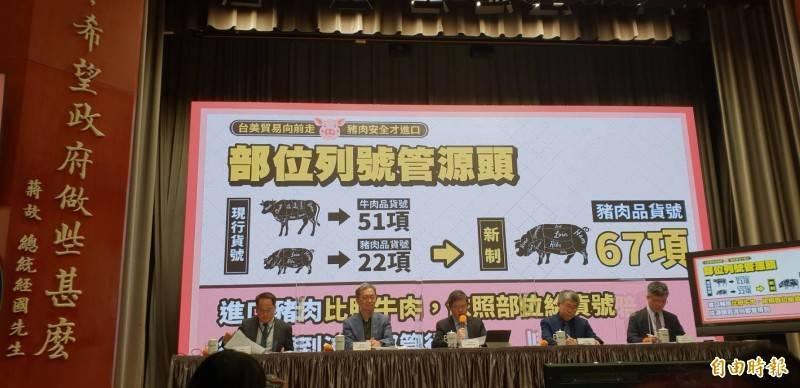 行政院宣布赴美查廠、新增貨號等機制,未查廠前不能進口。(記者李欣芳攝)