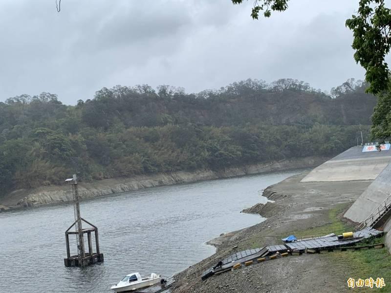 目前苗栗縣各水庫蓄水量持續下探,明德水庫有效蓄水量約225.18萬立方公尺。(資料照)